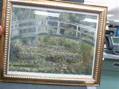 THE WATER LILY Print WATER LILI POND JAPANSE BRIDGE